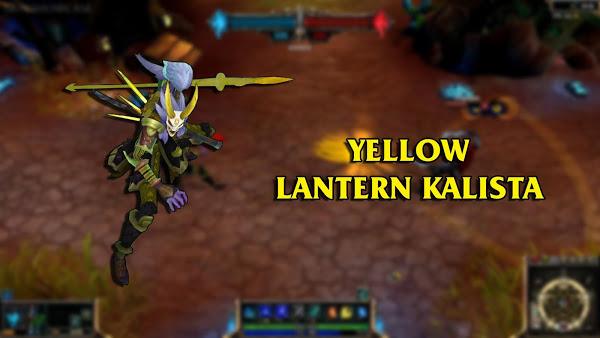 Mod Skin Kalista Yellow Lantern