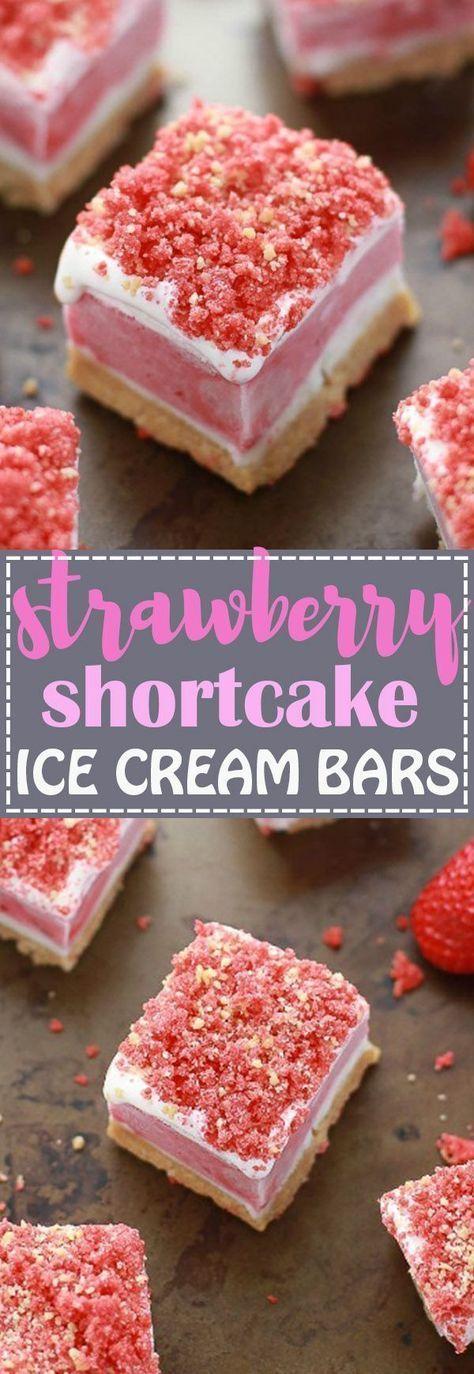 Strawberry Shortcake Ice Cream Bars