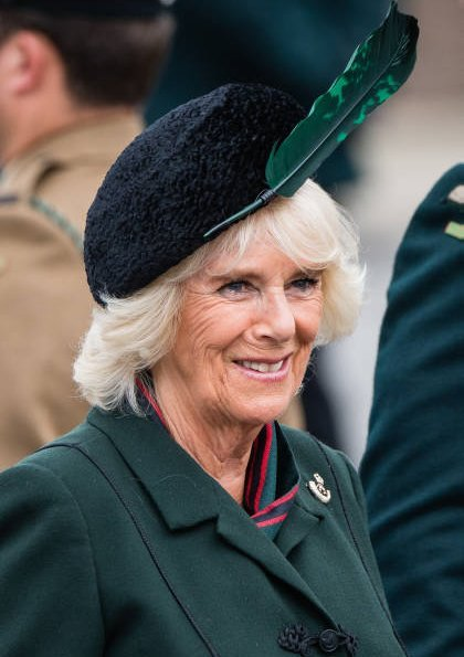 The Duchess of Cornwall attended a medals parade for the 4th Battalion The Rifles at New Normandy Barracks