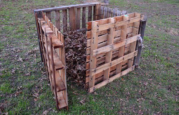 ถังขยะเก็บเศษใบไม้ในสวน