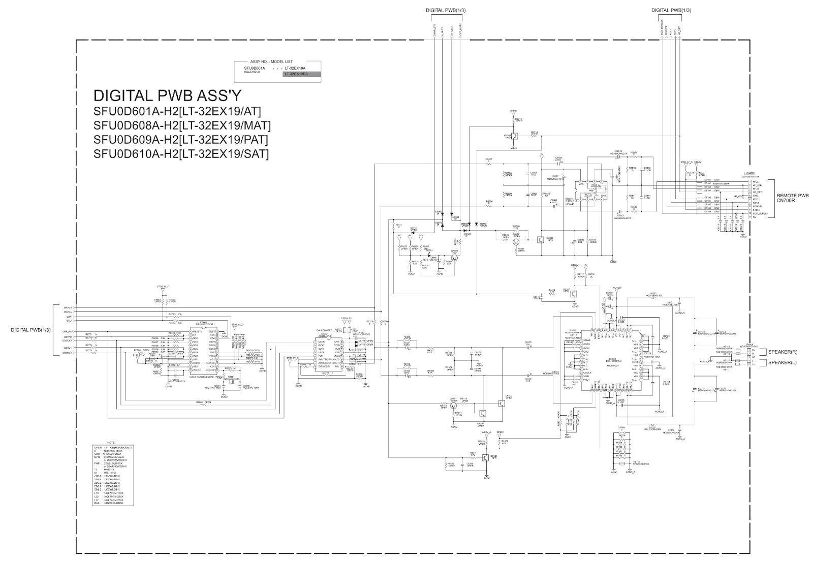 samsung led tv circuit diagram pdf lt-32ex29 - lt-32ex19 - jvc lcd tv - main power supply ...