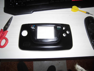 carcasa de la game gear spray imprimación