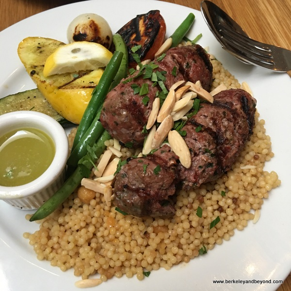kebab plate at Zaytoon Mediterranean Restaurant & Bar in Albany, California