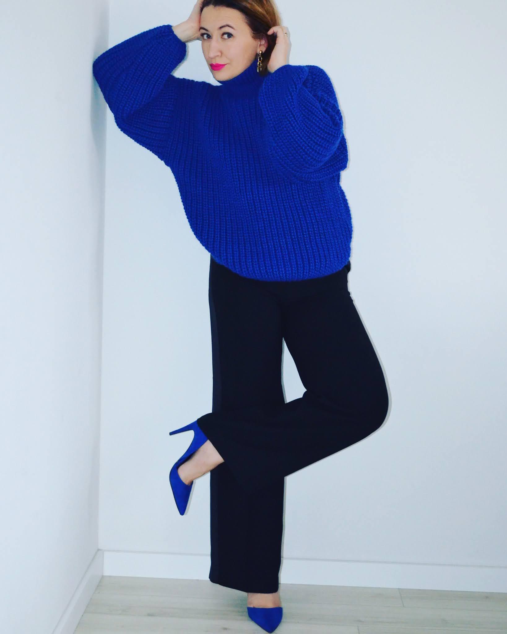 Sweater: Laurella Trousers: Monsoon Heels: Zara Sunnies: Celine Earrings: Freya Treasures