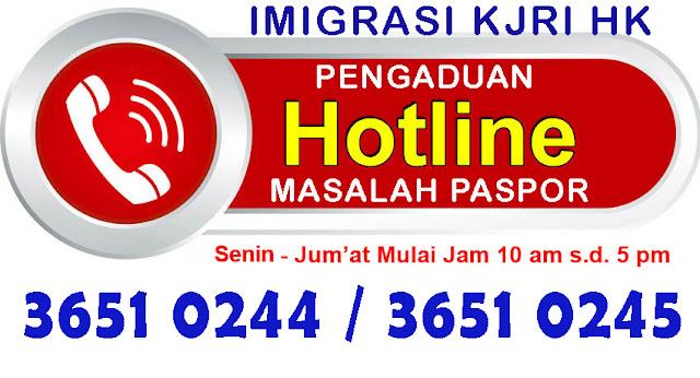 Hotline Layanan Imigrasi Kjri Hk