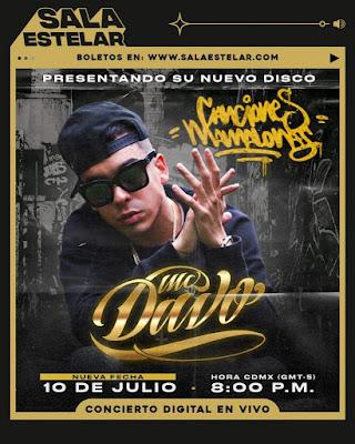 MC Davo nos presentará sus 'Canciones Mamalonas' en un show online a través de Sala Estelar