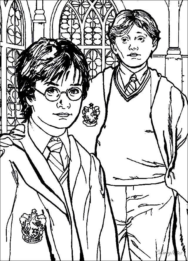 20 Harry Potter Coloring Pages Easy and Free - COLORING ...