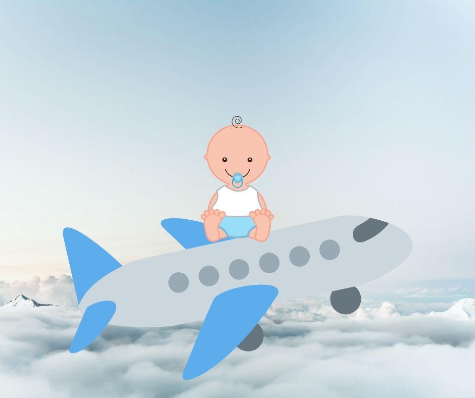 Viajando de avião com um bebê: guia completo