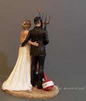 Statuette realistiche sposi per matrimoni sculture su ordinazione per torta orme magiche