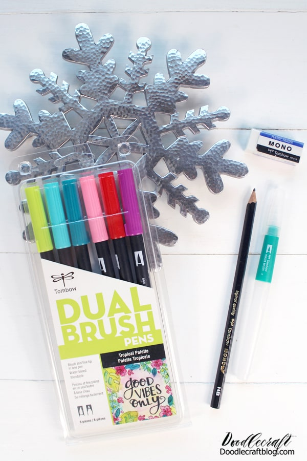 For the Hand Lettering artist, Tombow rules the top of the Brush Pen market. These vivid pens are perfect for handlettering, watercolors and art. They are extremely versatile and come in 108 colors.