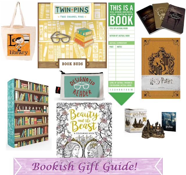 bookish gift guide, gift guide, nerdy gifts, geek gifts, book blog, gift ideas, gifts for book lovers,