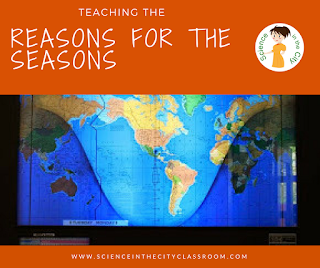 A description and freebie used to teach about the reasons for the seasons, and to reduce misconceptions about the causes for the seasons