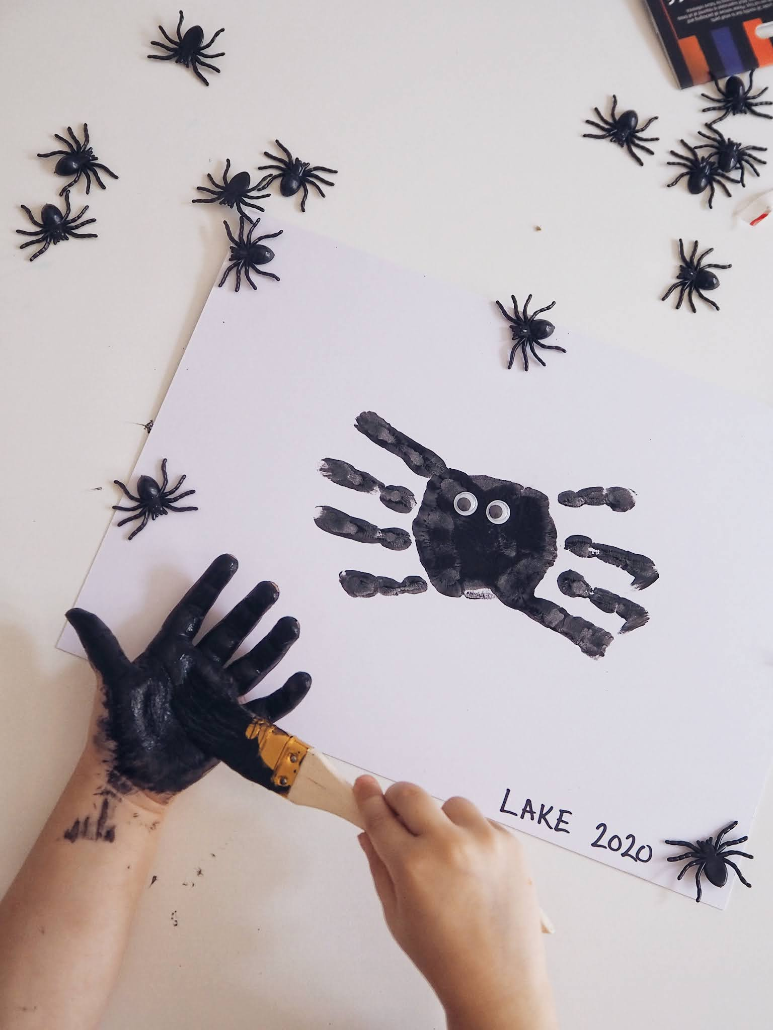Spider halloween painting