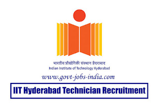 IIT Hyderabad Technician Recruitment