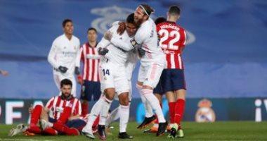 ملخص وأهداف ريال مدريد ضد أتلتيكو مدريد