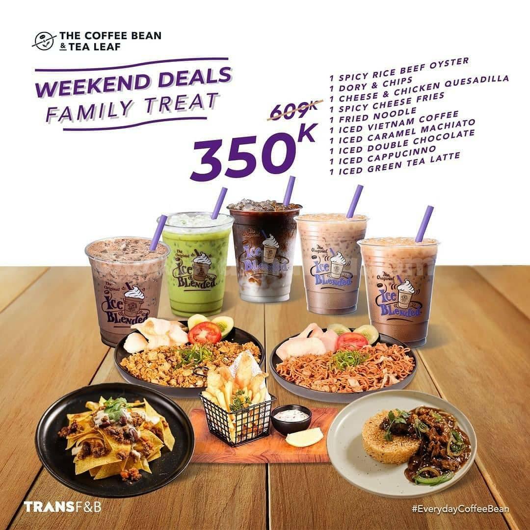 COFFEE BEAN Promo Weekend Deal! harga Paket Family Treat cuma 350K