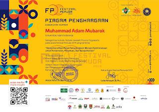 Sertifikat festival Pemuda 2019