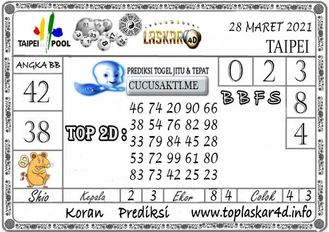 Prediksi Togel TAIPEI LASKAR4D 28 MARET 2021