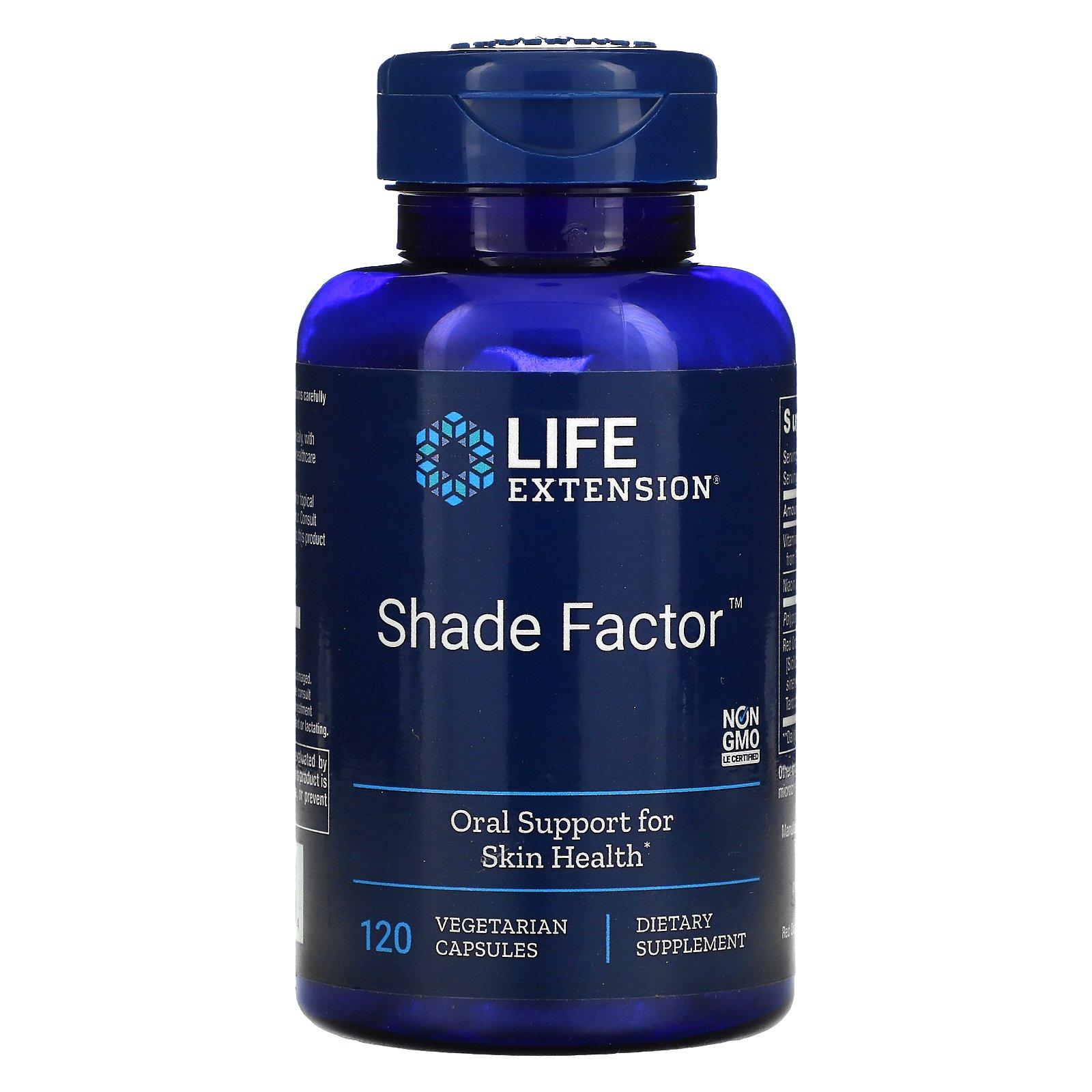 Life Extension, Shade Factor, 120 вегетарианских капсул