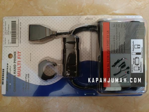 Cara Pasang USB Charger Daytona Vixion pada Yamaha NMax