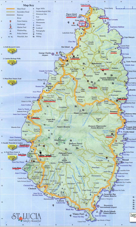Santa Lúcia | Mapas Geográficos de Santa Lúcia