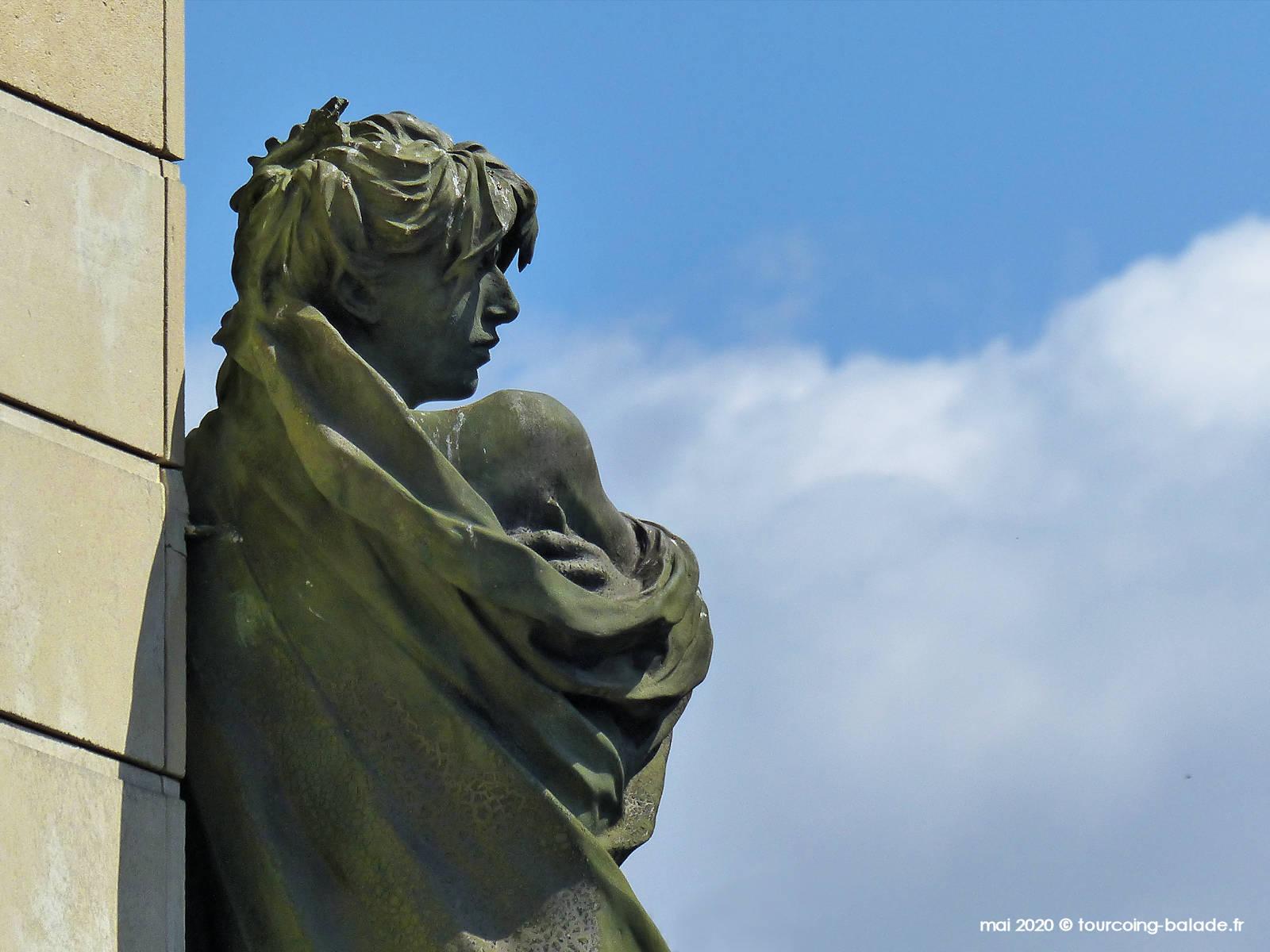 Statue de Rose Valland, Marcq-en-Baroeul, 2020