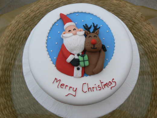 merry christmas cakes decorating ideas and santa claus pictures photos