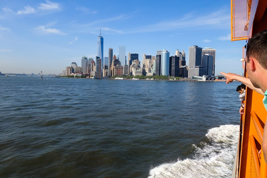 New York City, NY May 2016 photo by Corey Templeton of views from the ride back to the city aboard the Staten Island Ferry.