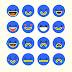 Share bộ vector Emo Facebook theo phong cách Điện Máy Xanh đang hot
