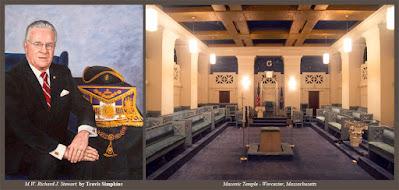 M.W. Richard J. Stewart. Past Grand Master. Grand Lodge of Massachusetts. by Travis Simpkins