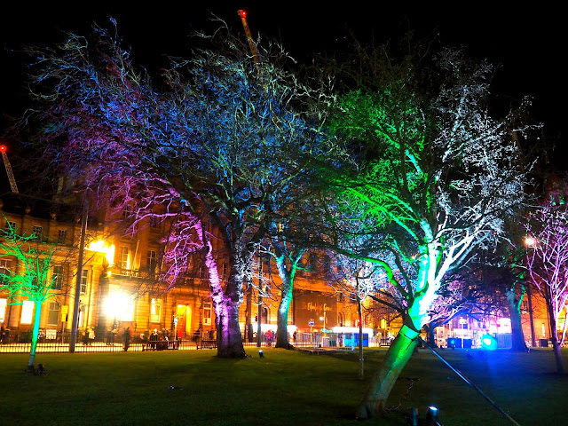 Serenity Garden, St Andrew Square, Edinburgh Lumen sound & light installations