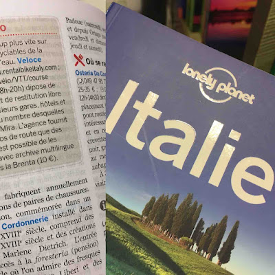 veloce bike rental review Lonely Planet travelbooks guidebooks italy