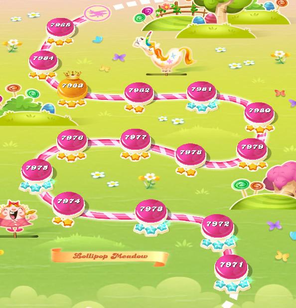 Candy Crush Saga level 7971-7985