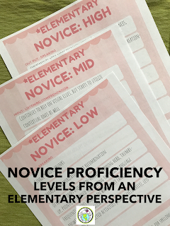 Novice Proficiency Level Descriptors for Elementary World Language