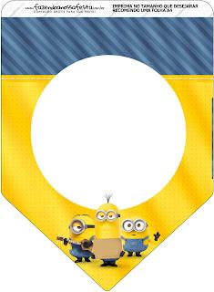 Banderines dePelícula de los Minions para imprimir gratis.