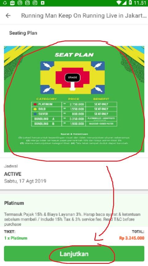 Pilih Kursi Tiket Event di Tokopedia