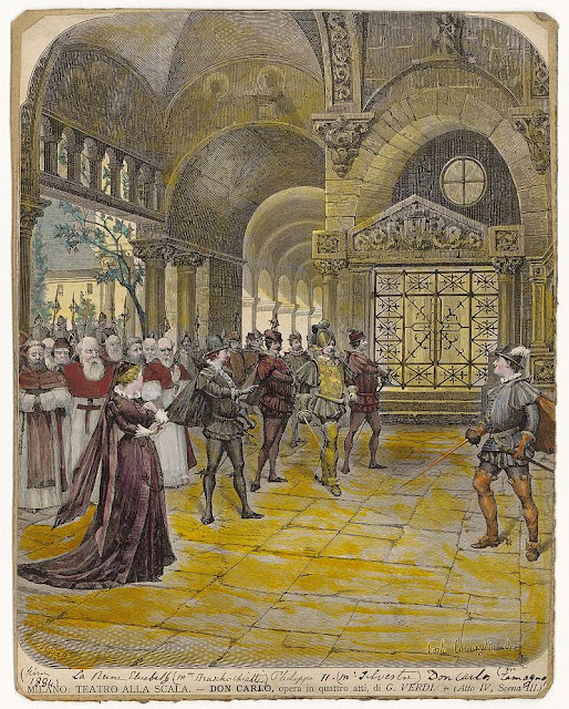 Verdi's Don Carlo at La Scala in 1884, premiere of the four-act revised version