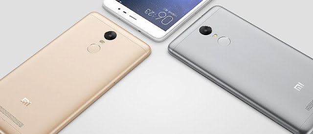 redmi note three back colors