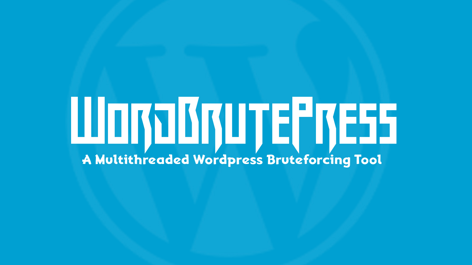 WordBrutePress - A Multithreaded Wordpress Bruteforcing Tool