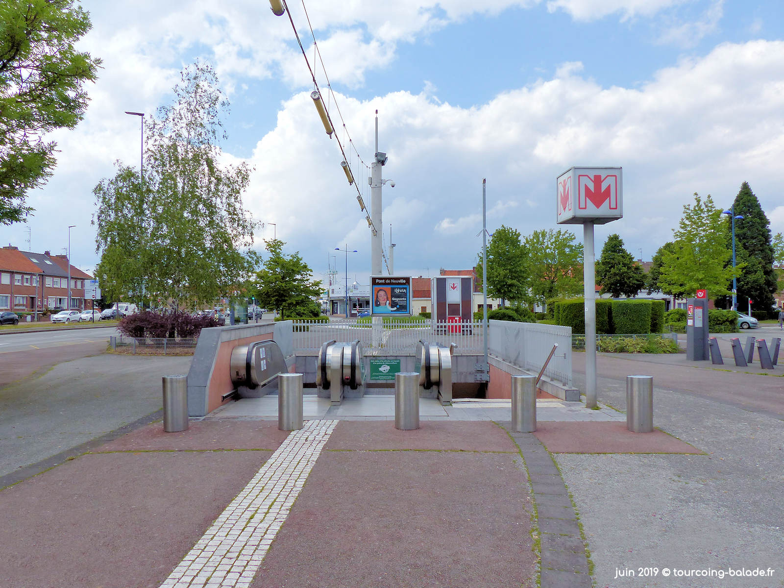 Station Métro Pont de Neuville, Tourcoing