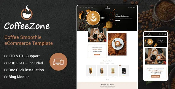 Best Cafe & Coffee OpenCart Shop Theme