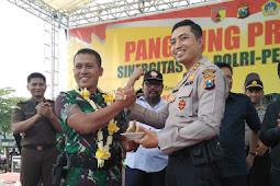 Konvoi Dan Potong Tumpeng Sambut Dandim 0817 Baru