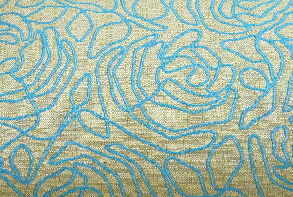 Turquoise and mint green upholstery fabric