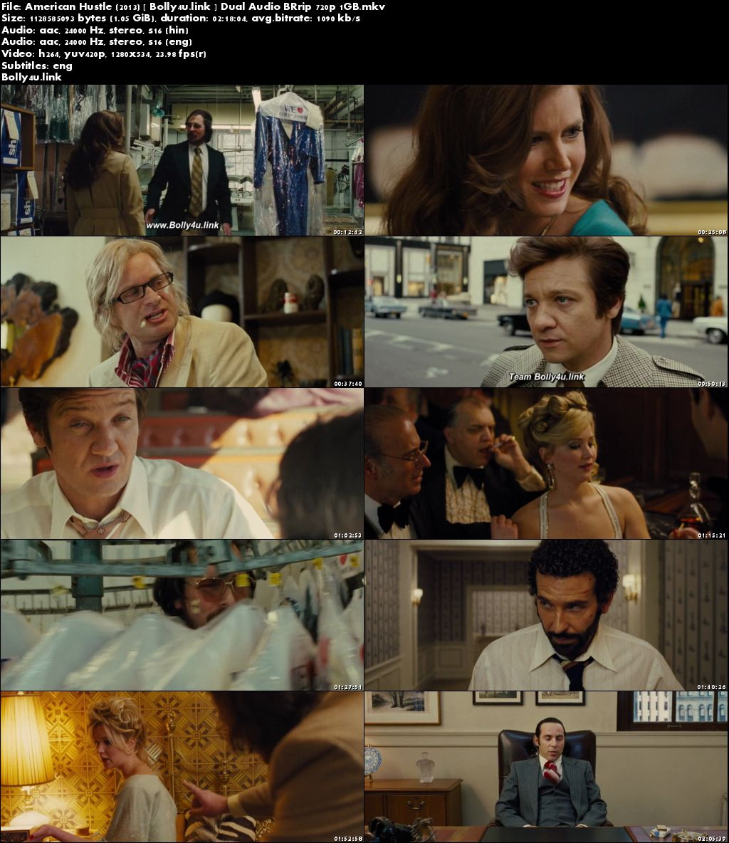 American Hustle 2013 BRRip 1Gb Hindi Dual Audio 720p Download