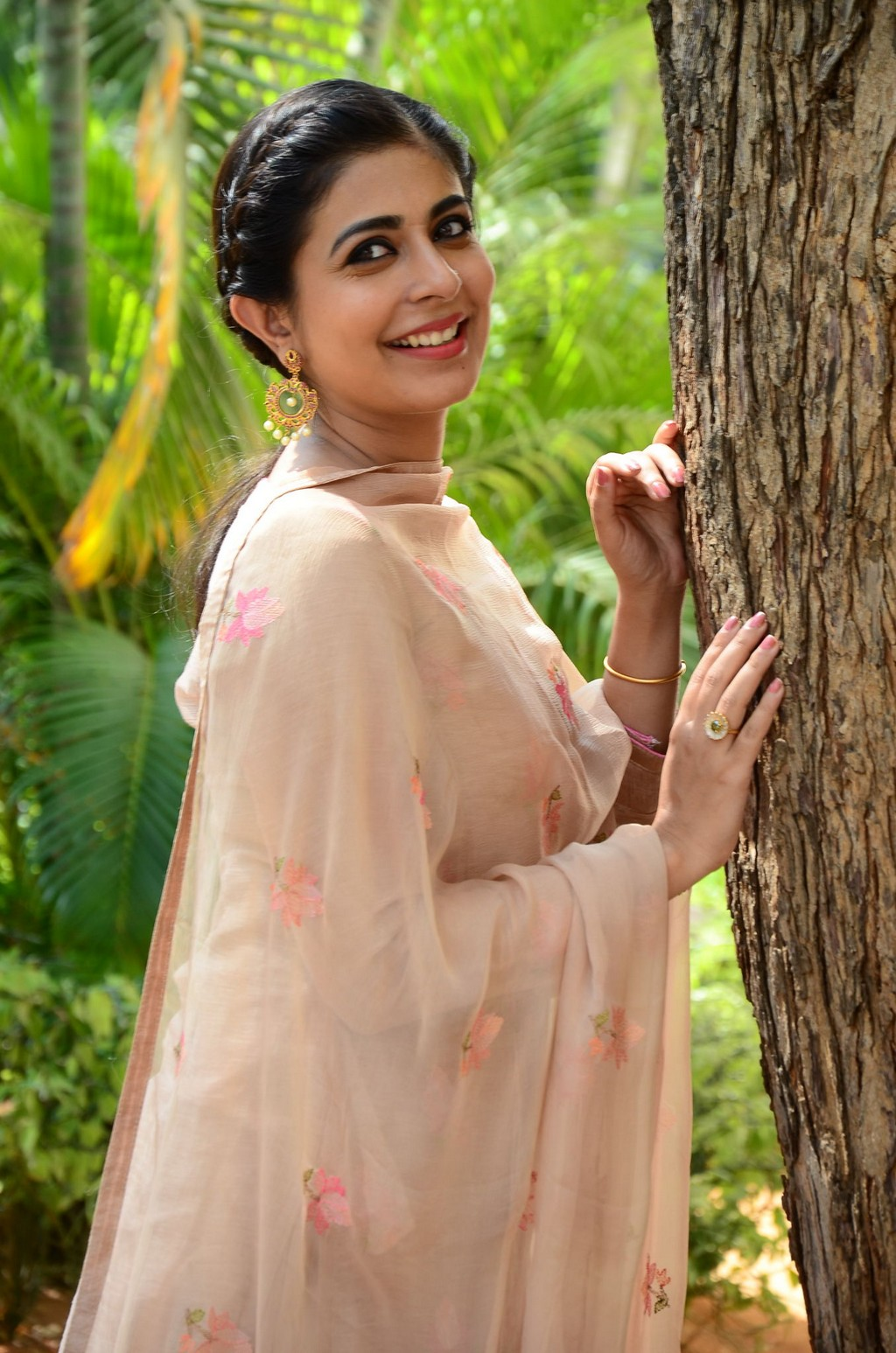 Leona Lishoy looks super cute Punjabi look in Patiala Suit at Telugu movie Edureetha Teaser Launch