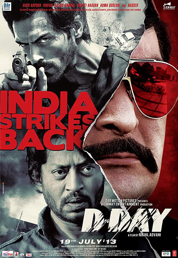 D-Day 2013 Hindi 720p 1.1GB BRRip