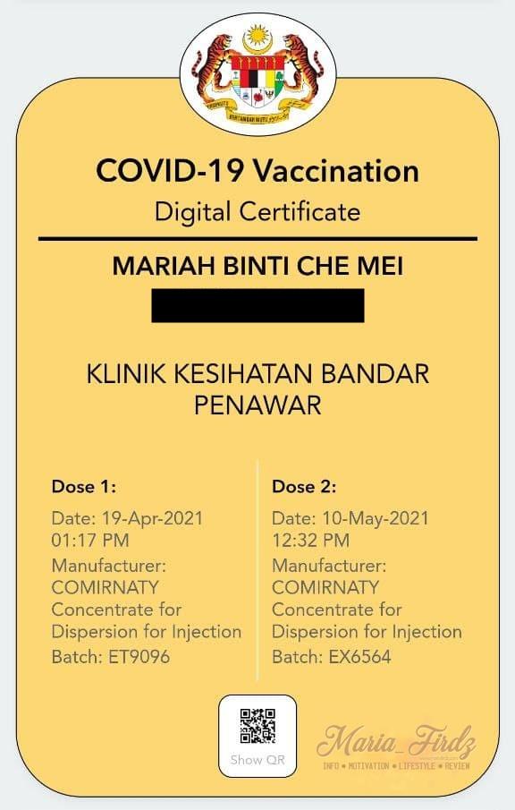 Pengalaman Sebenar Penerima Vaksin Covid-19
