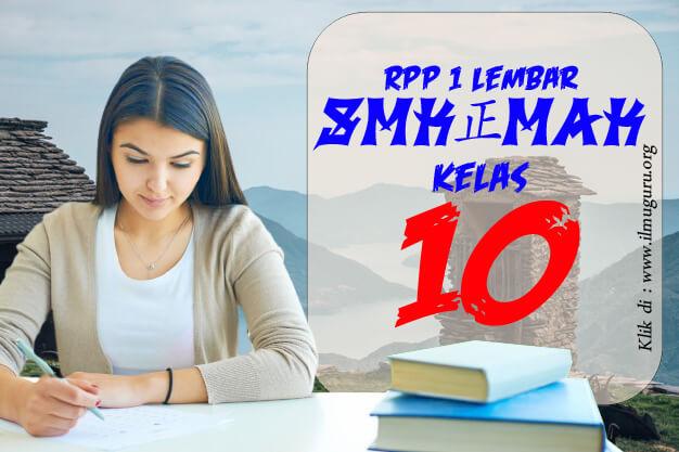 RPP 1 Lembar IPA SMK Kelas 10