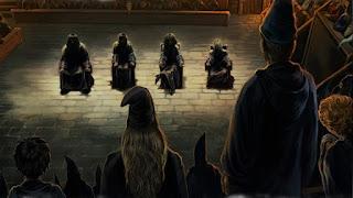 L'interrogatorio di Bellatrix, Rodolphus e Rabastan Lestrange, e Barty Crouch Jr.