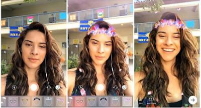 Filter wajah Instagram tidak muncul